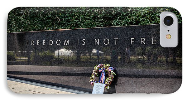 Freedom Is Not Free IPhone Case by Sennie Pierson