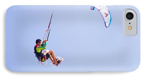 Freedom  Miami Beach Kitesurfing IPhone Case by Mr Bennett Kent