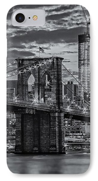 Freedom Rising Bw IPhone Case by Susan Candelario