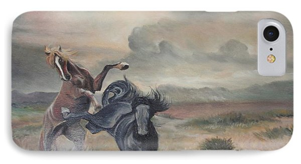 IPhone Case featuring the painting Freedom by Sorin Apostolescu