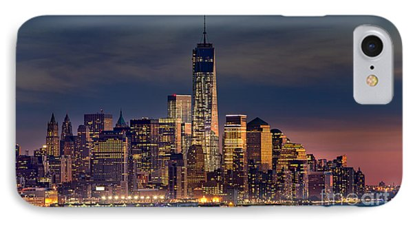 Freedom Tower Construction End Of 2013 IPhone Case by Jerry Fornarotto