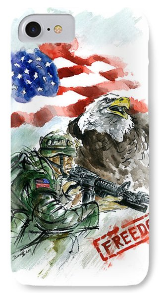 Freedom Usarmy IPhone Case