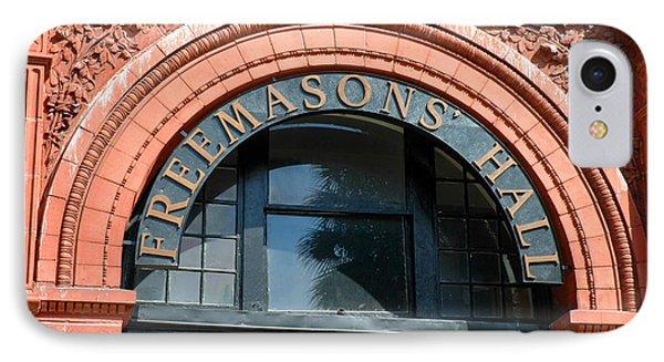 IPhone Case featuring the photograph Freemason Hall Savannah by Allen Carroll