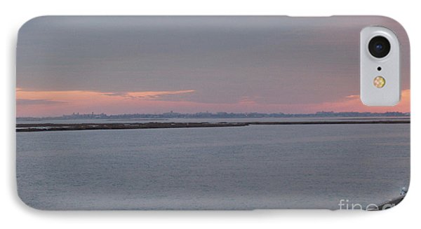 Freeport Winter Sunset At The Nautical Mile Phone Case by John Telfer