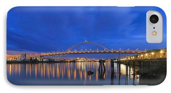 Fremont Bridge Blues Phone Case by David Gn
