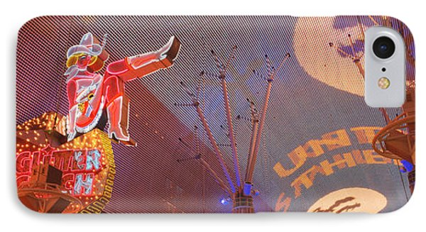 Fremont Experience Las Vegas Nv Usa IPhone Case by Panoramic Images