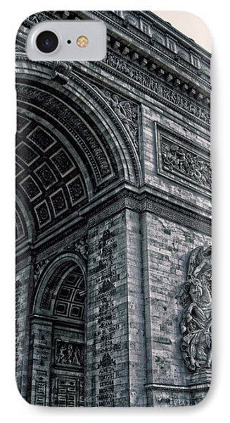 French - Arc De Triomphe And Eiffel Tower II Phone Case by Lee Dos Santos