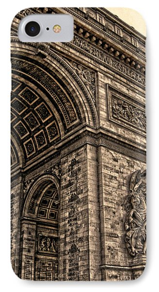 French - Arc De Triomphe And Eiffel Tower IIi Phone Case by Lee Dos Santos