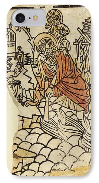 French 15th Century, Saint Christopher Recto IPhone Case