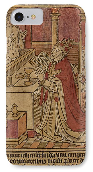 French 15th Century, The Mass Of Saint Gregory Recto IPhone Case by Quint Lox
