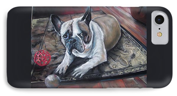 french Bull dog IPhone Case by Peter Suhocke