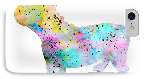 French Bulldog 4 IPhone Case by Watercolor Girl