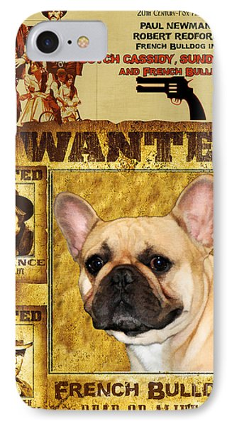 French Bulldog Art Canvas Print - Butch Cassidy And The Sundance Kid Movie Poster IPhone Case by Sandra Sij
