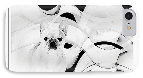 IPhone Case featuring the painting French Bulldog by Barbara Chichester