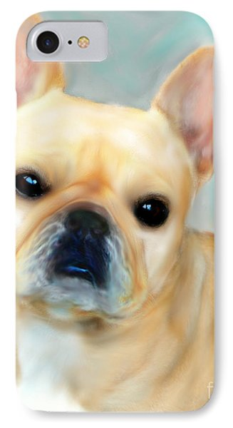 French Bulldog Mystique D'or Phone Case by Barbara Chichester