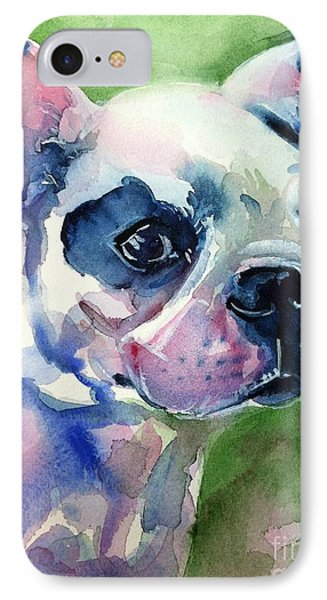 French Bulldog Painting Phone Case by Maria's Watercolor