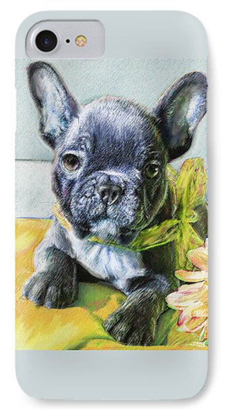 French Bulldog Puppy IPhone Case by Jane Schnetlage