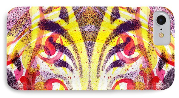 French Curve Abstract Movement Vi Mystic Flower IPhone Case