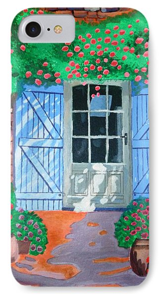 IPhone Case featuring the painting French Farm Yard by Magdalena Frohnsdorff