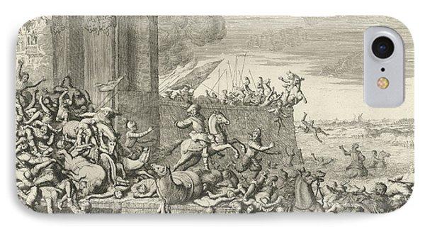 French Fury In Antwerp, Belgium, 1583, Jan Luyken IPhone Case by Jan Luyken