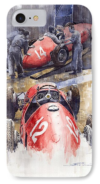 French Gp 1952 Ferrari 500 F2 IPhone Case