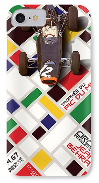 French Grand Prix 1967 Circuit Jean Behra IPhone Case by Georgia Fowler
