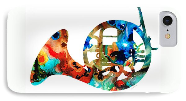 French Horn - Colorful Music By Sharon Cummings IPhone Case