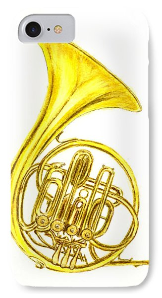 French Horn IPhone Case by Michael Vigliotti