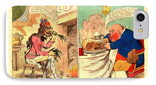 French Liberty  British Slavery, Gillray IPhone Case by English School