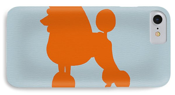 French Poodle Orange IPhone Case by Naxart Studio