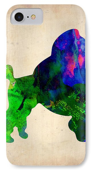 French Poodle Watercolor IPhone Case by Naxart Studio