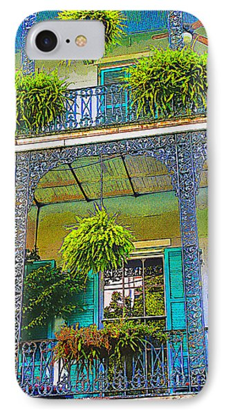French Quarter Balcony 1 Phone Case by David Doucot