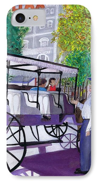 IPhone Case featuring the painting French Quarter Buggy Tour by June Holwell