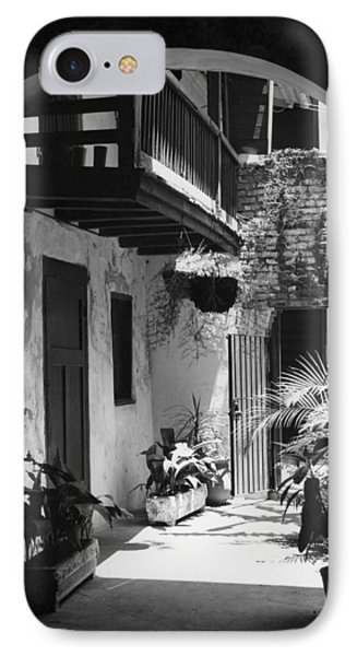 French Quarter Courtyard IPhone Case by Underwood Archives