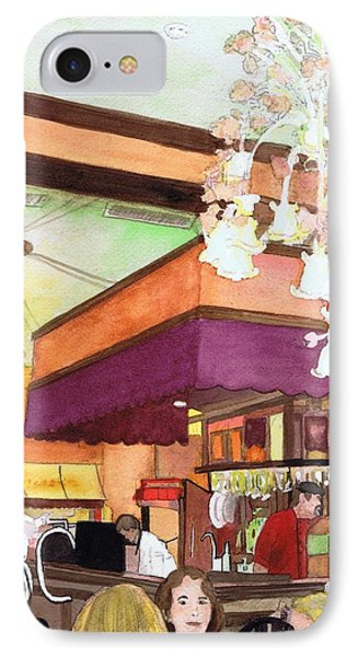 IPhone Case featuring the painting French Quarter Dining-coffee Pot Restaurant by June Holwell