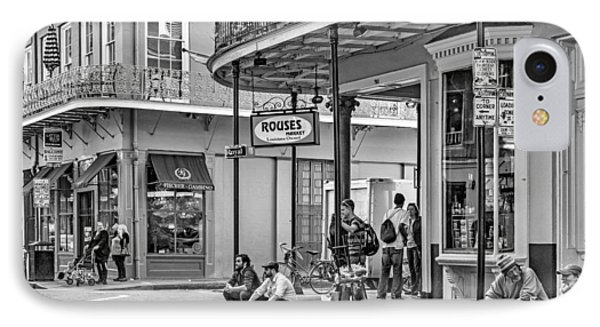 French Quarter - Hangin' Out Bw Phone Case by Steve Harrington
