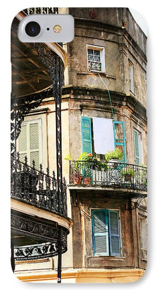 IPhone Case featuring the photograph French Quarter Morning by Heather Green