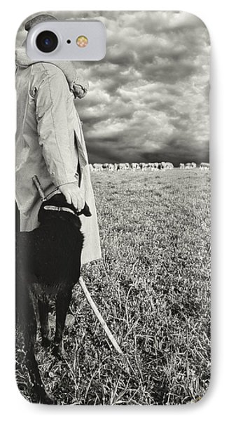 French Shepherd - B W IPhone Case by Chuck Staley