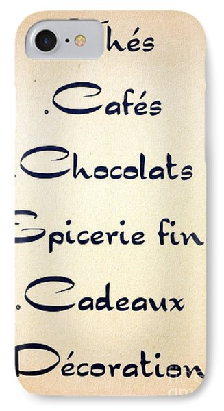 French Store Sign IPhone Case by Olivier Le Queinec