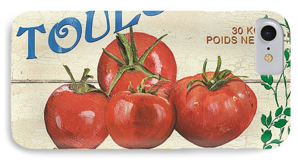 Tomato iPhone 7 Case - French Veggie Sign 3 by Debbie DeWitt