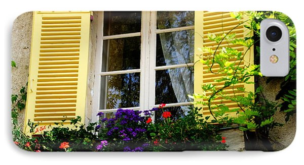 IPhone Case featuring the photograph French Window Dressing by Jacqueline M Lewis