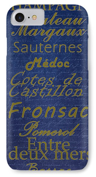 French Wines - 2 Champagne And Bordeaux Region Phone Case by Paulette B Wright