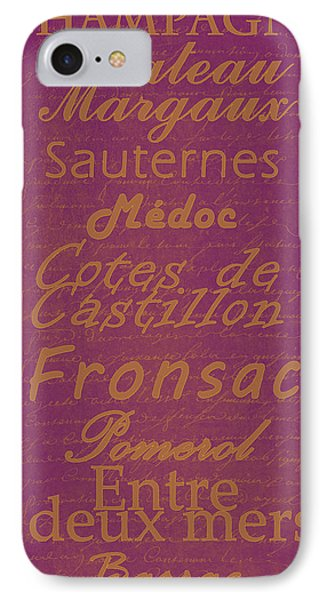French Wines-3 - Champagne And Bordeaux Region Phone Case by Paulette B Wright