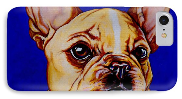Frenchie IPhone Case by Lina Tricocci