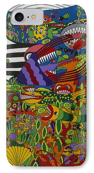 Frenzy IPhone Case by Rojax Art