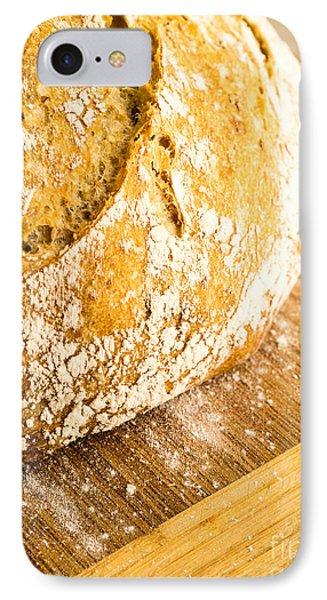 Fresh Baked Loaf Of Artisan Bread Phone Case by Edward Fielding