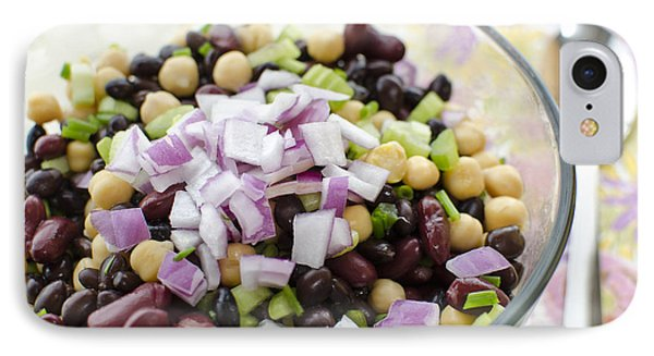 IPhone Case featuring the photograph Fresh Bean Salad by Maria Janicki