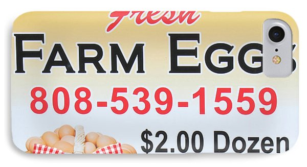 Fresh Farm Eggs IPhone Case by Sylvia Thornton