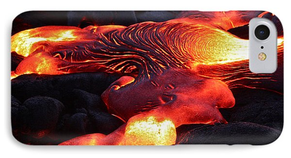 Fresh Lava Flow IPhone Case by Venetia Featherstone-Witty