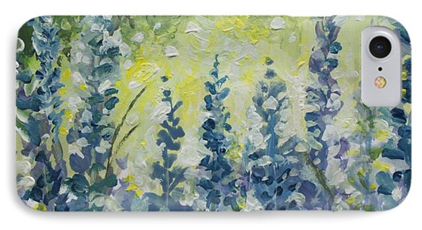 IPhone Case featuring the painting Fresh Lavender by Elizabeth Robinette Tyndall